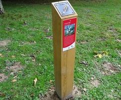 Park activity trail post