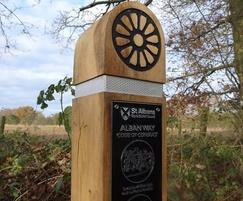 Heritage trail waymarker post