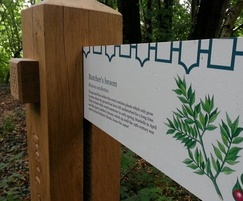 Interactive wayfinding trail timber post
