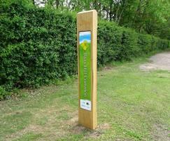 Trail marker entrance sign