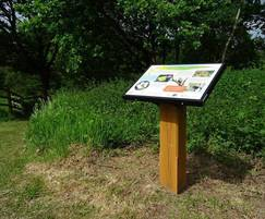 Bespoke lectern interpretation signage display