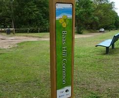 Oak trail marker entrance sign