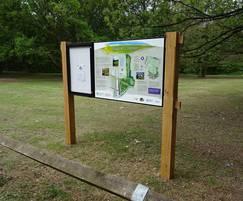Noticeboard and interpretation combination signage