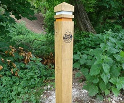 Wooden waymarker post