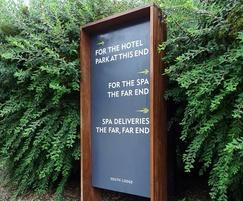 External directional hotel sign