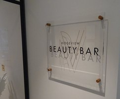 Beauty bar signage