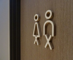 Bespoke toilet sign