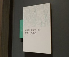 Internal sign for hotel's Holistic Studio