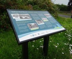 Musketeer steel lectern visitor information display