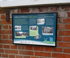 Wall-mounted heritage trail panel
