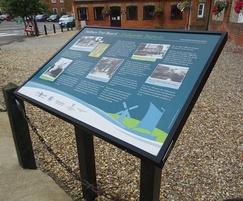 Musketeer steel lectern heritage interpretation board