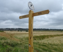 Bespoke oak fingerpost for Pulborough Wild Art Trail