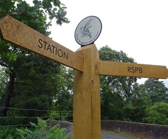 Wooden fingerpost for art trail