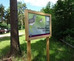 Welcome board - Weeting Heath nature reserve