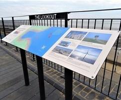 Panoramic lectern display