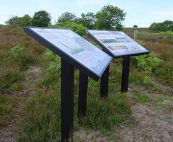 Musketeer interpreation lectern Norfolk Wildlife Trust