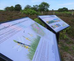 Nviro graphic panels Norfolk Wildlife Trust