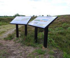 Information lecterns Norfolk Wildlife Trust