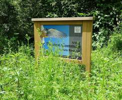 Oak entrance sign Norfolk Wildlife Trust