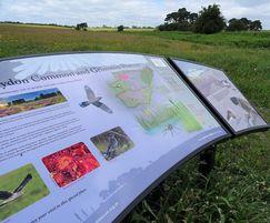 Graphic panels Norfolk Wildlife Trust