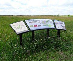 Metal curved lectern Norfolk Wildlife Trust