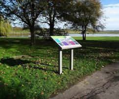 Visitor outdoor information board