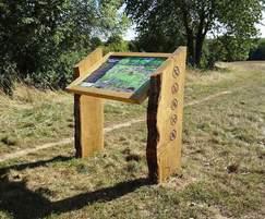 Oak interpretation lectern - Chorleywood Common