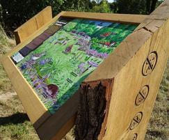 Oak wildlife interpretation lectern, Chorleywood Common