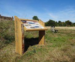 Waney edge oak lectern - Chorleywood Common