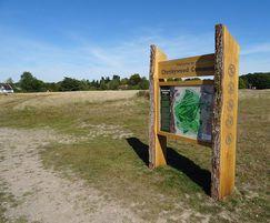 Waney edge oak orientation sign - Chorleywood Common
