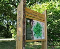 Wooden park orientation sign