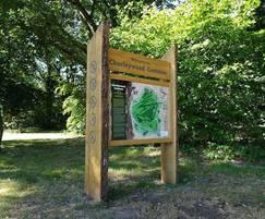 Wooden orientation sign - Chorleywood Common