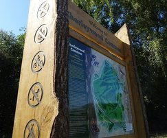 Wooden sign with routed detail - Chorleywood Common
