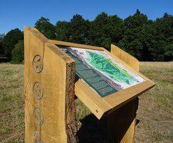 Wooden lectern - Chorleywood Common