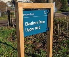 Tray sign - Elvetham Estate