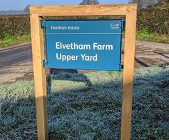Elvetham Estate place name sign