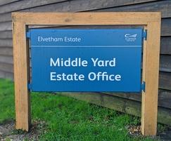 Badging sign - Elvetham Estate