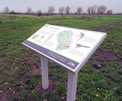 Musketeer lectern interpretation sign - Lee Valley