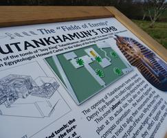 Musketeer interpretation lectern - Chiddingstone Castle