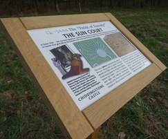 Interpretation board - Chiddingstone Castle