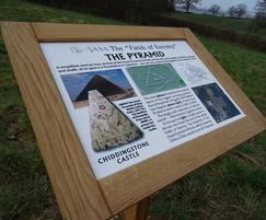 Etched zinc interpretation sign - Chiddingstone Castle