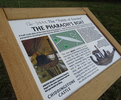 nviro wood interpretation sign - Chiddingstone Castle