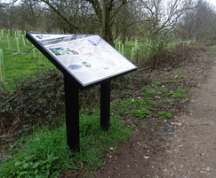 Musketeer lectern for heritage trail