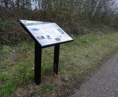 Steel lectern - Marriott's Way Heritage Trail