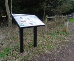 Interpretive lectern for heritage trail
