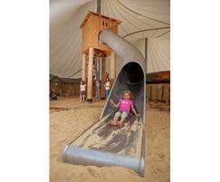 Kidzworld, Cornwall: slide and sand play