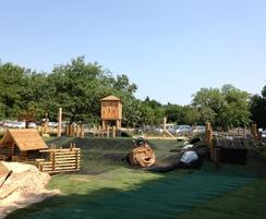 The play area situated at Pensthorpe nature reserve com