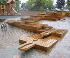 AQuadrat flexible modular water play system