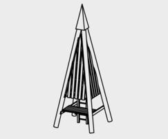 Small Pyramid Tower - drawing