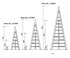 Small Pyramid Tower, shown with Middle and Large option
